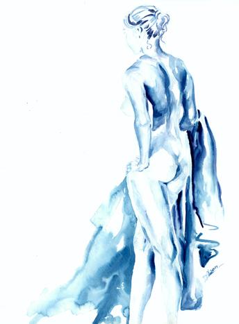 Blue Bath Nude